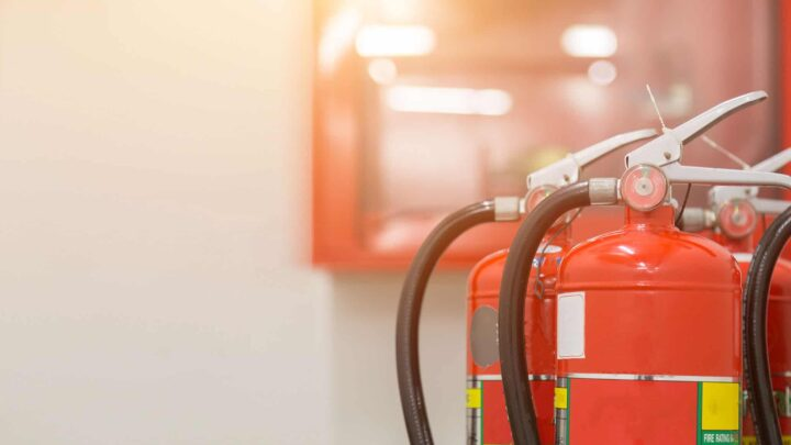 What fire safety systems can be installed at office?